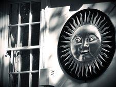 Free Sunshine Symbol On House Wall Stock Image - 92331191