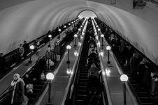 Free Subway Escalators Royalty Free Stock Photos - 92331328