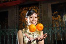 Free Beautiful Asian Woman In Oriental Theme Stock Photos - 9240743