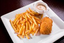 Free Potato Fry Royalty Free Stock Image - 9240766