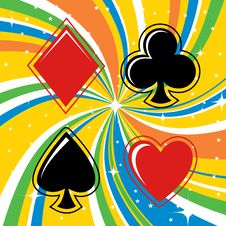 Free Gambling Cards Signs Set Stock Photos - 9242123