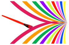 Free Painting And Rainbow Stock Image - 9242401