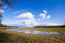 Farmland After The Rain Royalty Free Stock Images