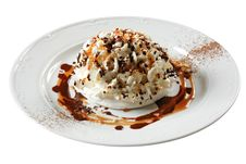 Free Ice Cream With Sauce Royalty Free Stock Photo - 9243655