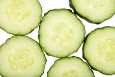 Free Cucumber Slices Stock Photography - 9243742
