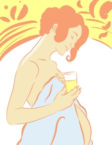 Free An Expectant Mother Drinking Royalty Free Stock Photography - 9245357