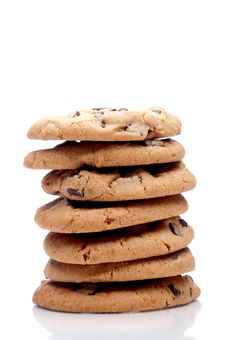 Free A Stack Of Chocolate Chip Cookies Stock Image - 9245541
