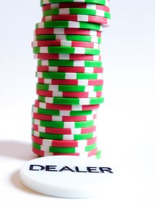 Chips And Dealer Royalty Free Stock Images
