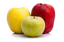Free Three Apples Stock Image - 9247011