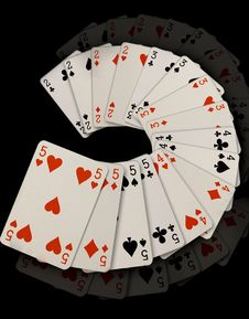 Free Playing Cards Royalty Free Stock Image - 9247856