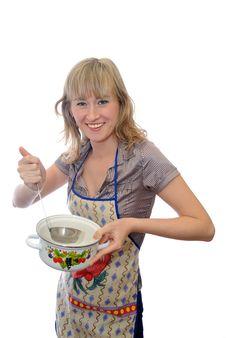 Cook Girl Royalty Free Stock Photos