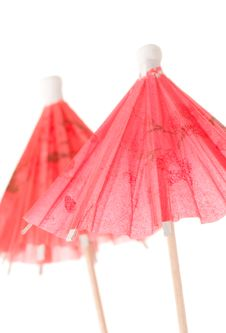 Coctail Umbrellas Stock Photography