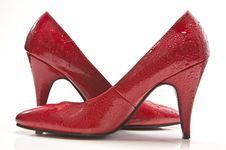 Free Wet Red Shoes Royalty Free Stock Photos - 9249318
