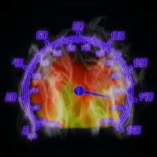 Free Burning Speedometer Royalty Free Stock Images - 9249719