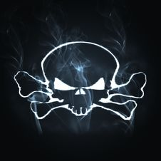 Free Skull And Bones In The Smoke Stock Image - 9249731
