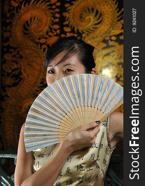 Beautiful Asian Woman In Oriental Theme