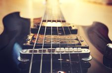 Free Close-up Of Guitar Royalty Free Stock Photo - 92428575
