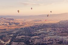 Free Assorted Color Hot Air Balloons Flying Over Mountain Ranges During Day Royalty Free Stock Photos - 92428838