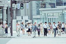 Free Pedestrians Crossing Street Stock Photography - 92429032
