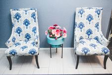 Free Armchairs And Table Stock Image - 92429071