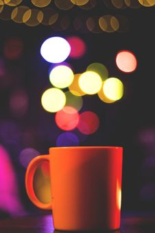 Free Cup With Blurred Light Royalty Free Stock Photography - 92429367
