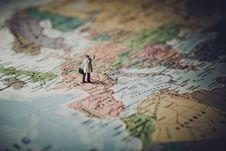 Free Traveler On Map Stock Photo - 92429610