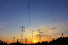 Free High Voltage Transmission Towers Royalty Free Stock Images - 92429669