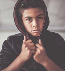 Free Boy In Black Hoodie Royalty Free Stock Photography - 92459777