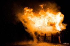 Free Explosion And Fire In A Barn Royalty Free Stock Photos - 92459998
