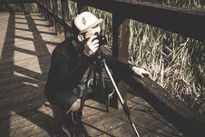 Free Photographer On Bridge Stock Photos - 92460283