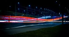 Free Long Exposure Night Traffic Royalty Free Stock Images - 92460359