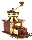 Free Coffee Mill And Coffee Beans Stock Photo - 9252530