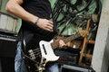 Free Man Playing Bass Guitar Stock Photography - 9252722