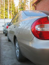 Free Two Cars Near Cottage Royalty Free Stock Photography - 9254127