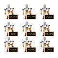 Free Funky Robots Stock Image - 9255611