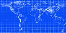 Blue World Map Stock Photography