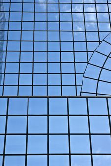 Glass Building With Square Windows Royalty Free Stock Photography