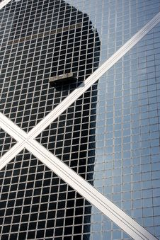 Window Washer On Side Of Building Royalty Free Stock Photos