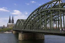 South Bridge Cologne Royalty Free Stock Photos