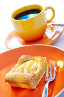 Apple Pie And Coffee Stock Photography