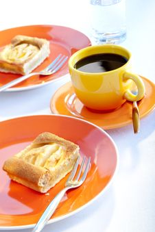 Apple Pie And Coffee Stock Images