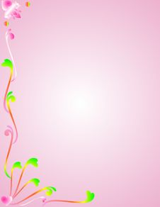 Free Pink Background With Colorful Foliage.. Royalty Free Stock Photography - 9251847