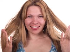 Free Hairs Of The Woman Royalty Free Stock Photo - 9252795