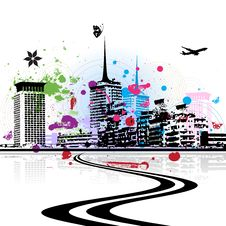 Free Cityscape Background, Urban Art Royalty Free Stock Photo - 9254085
