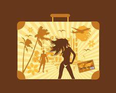 Free Summer Holiday, Suitcase Royalty Free Stock Photo - 9254145
