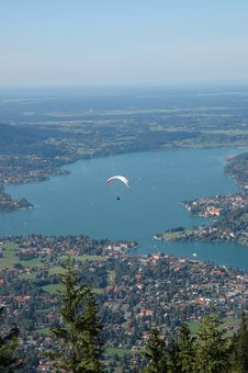 Free Tegernsee Seen From The Mountain Royalty Free Stock Image - 9254676