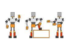 Free Three Funky Robots Stock Photos - 9255233