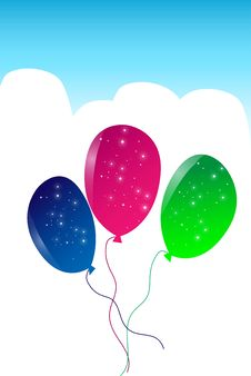 Free Balloons Royalty Free Stock Photo - 9255385