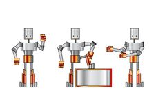 Free Funky Robots Royalty Free Stock Photos - 9255618