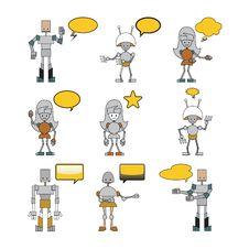 Free Funny Robots Stock Image - 9255841